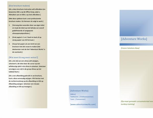 Brochure (21,5 x 28 cm, liggend, 2 vouwen)