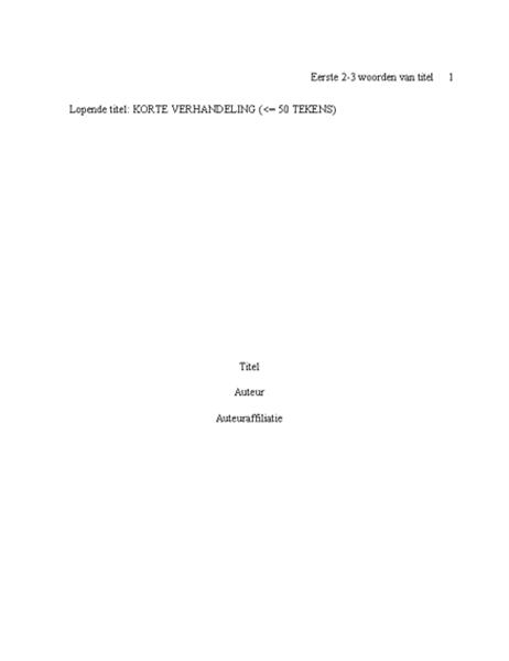 APA-papierformaat