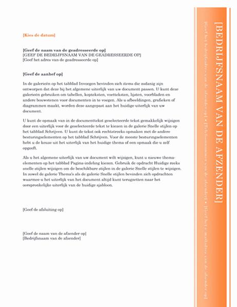 Brief (ontwerp Oriel)