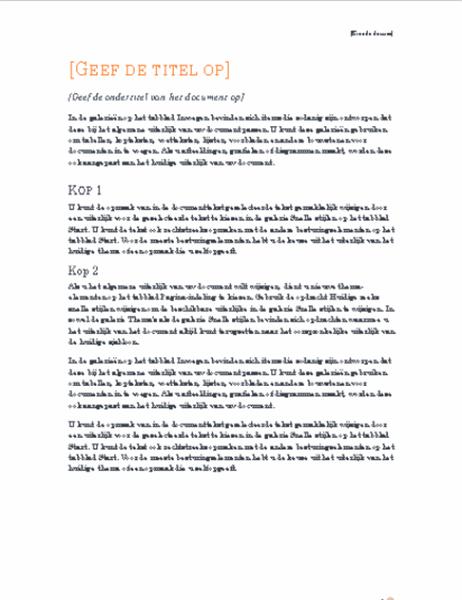 Rapport (ontwerp Oriel)