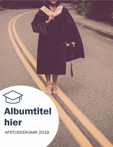 Fotoalbum van diploma-uitreiking (getextureerd ontwerp)