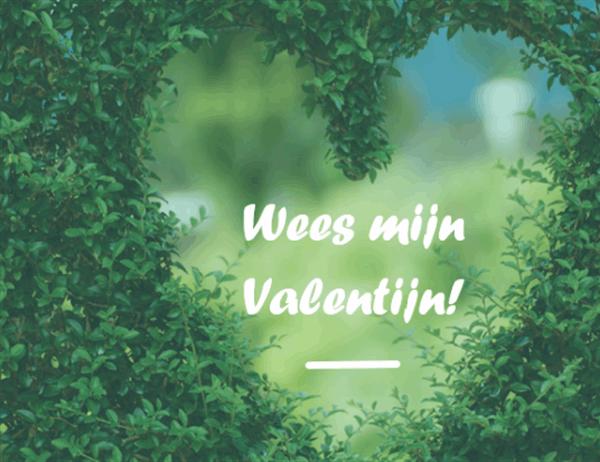 Valentijnskaart (in tweeën gevouwen)