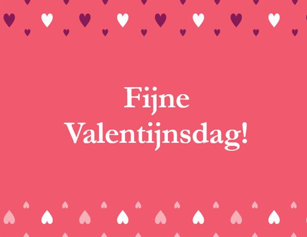 Valentijnsdagkaart (in vieren gevouwen)