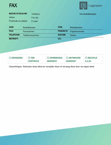 Faxvoorblad (Groene kleurovergang)