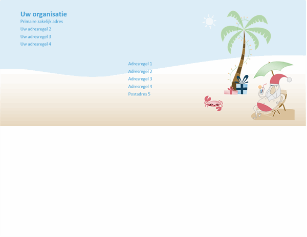 Envelop (zomerse Kerstman ontwerp)