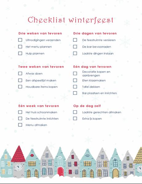 Checklist winterfeest