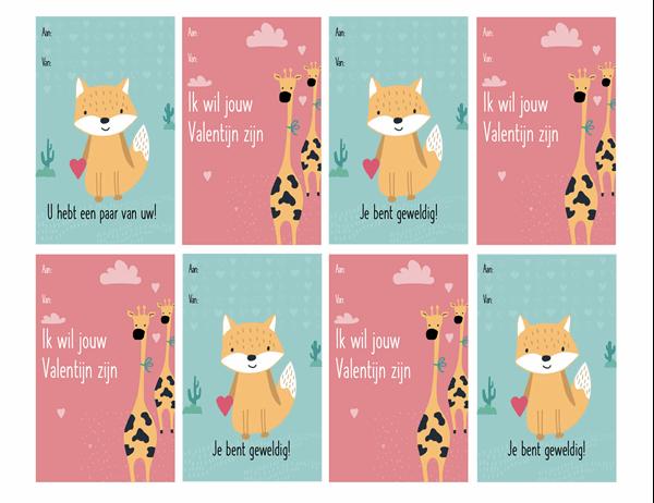 Valentijnskaarten voor kinderen