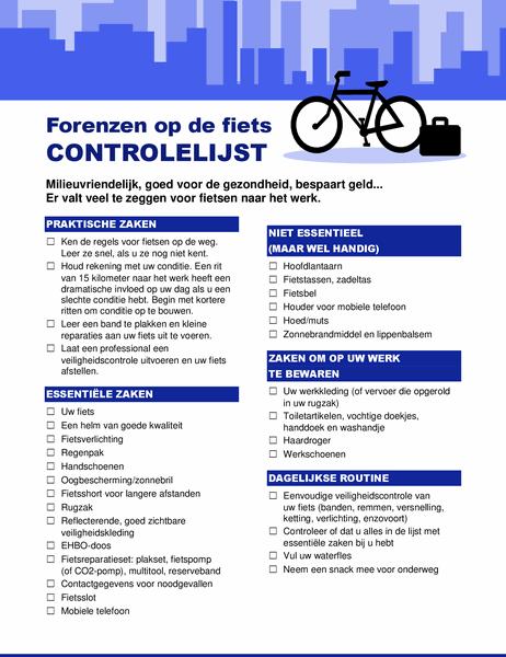 Controlelijst voor forenzen met de fiets
