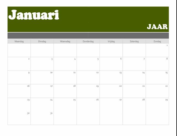 Kalender met banner