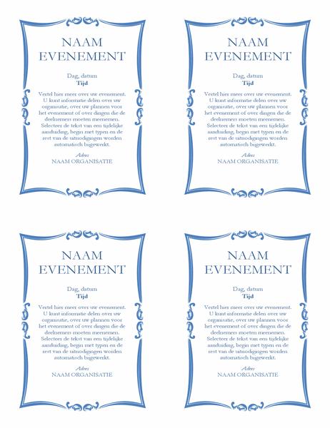 Evenementenflyer (4 exemplaren)