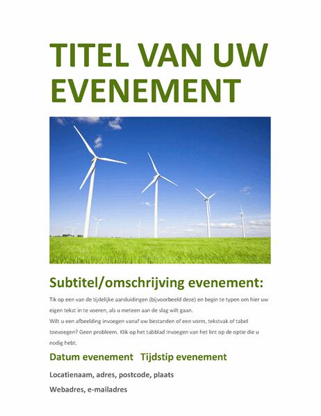 Evenementenfolder (groen)