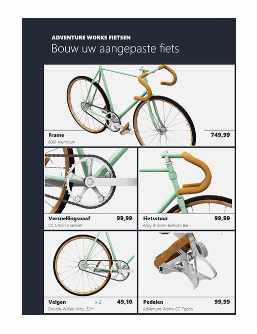 Excel-3D-productcatalogus (fietsmodel)
