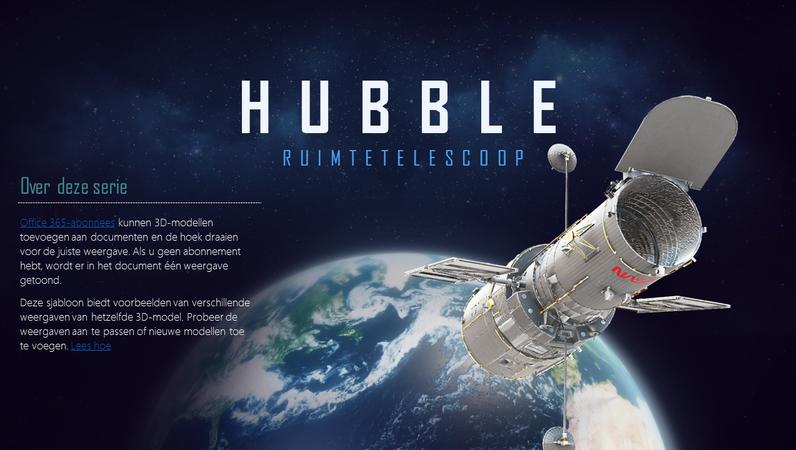 3D-PowerPoint-presentatie (Hubble-telescoopmodel)