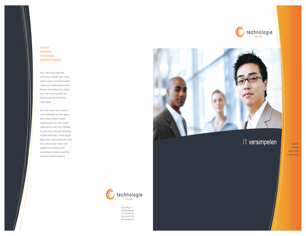Brochure voor technologiebedrijf (met vouw, tabloid)