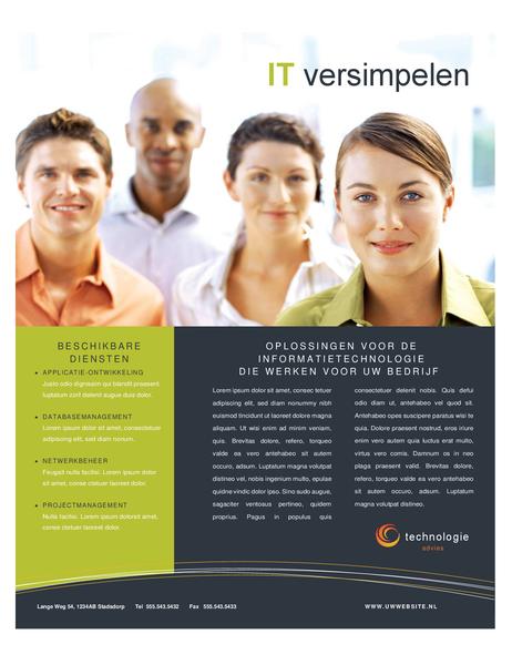 Folder voor technologiebedrijf