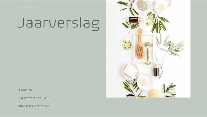 Presentatie met minimalistische kleuren