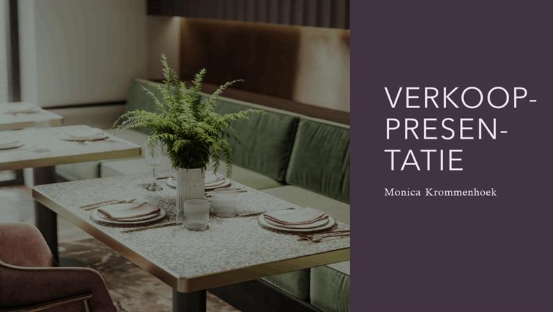 Verkooppresentatie voor restaurants