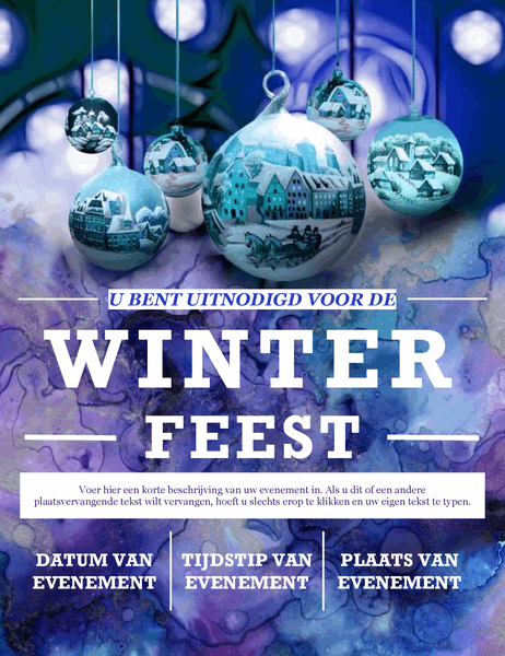 Elegante folder voor winterparty