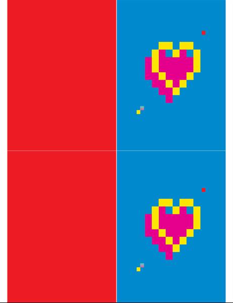 Pixelhart Valentijnskaart