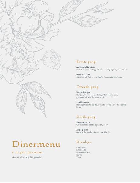 Elegante menukaart