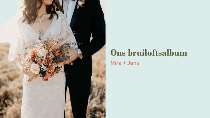 Bloemen bruiloftsalbum