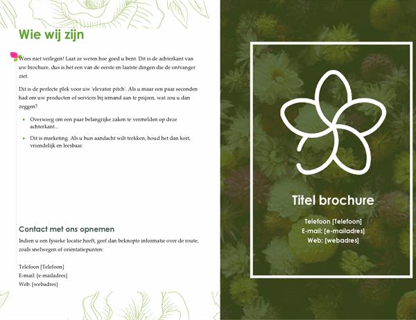 Groen bloemig-boekje