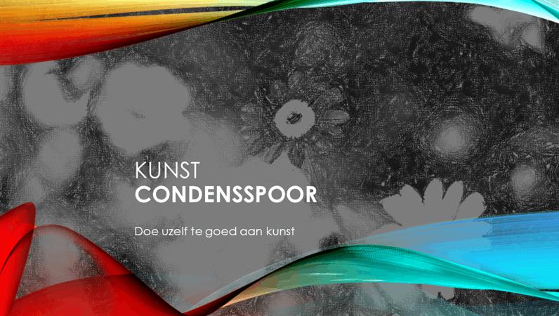 Condensspoor - Kunst