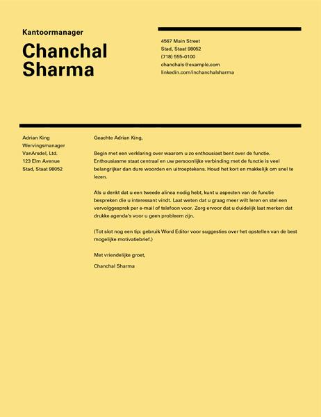 Begeleidende brief Zwitsers ontwerp