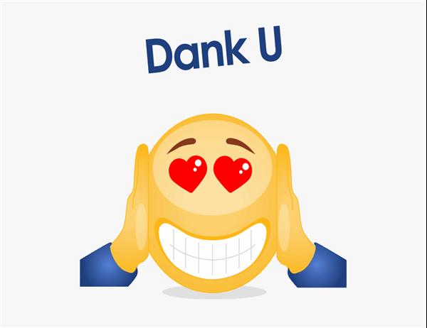 Bedankkaart met emoji