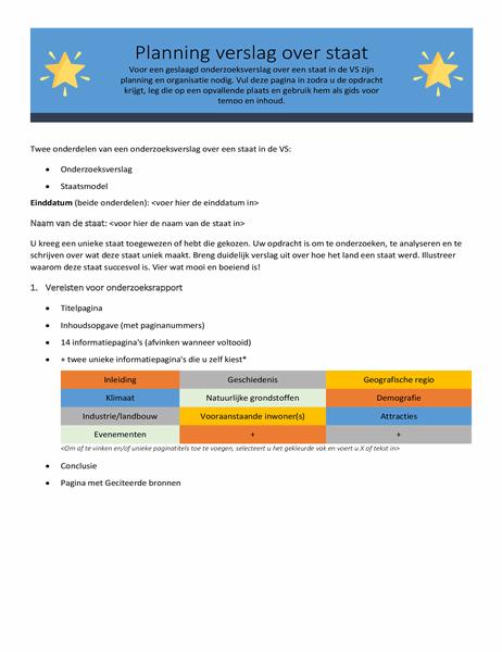 Statusrapport planner