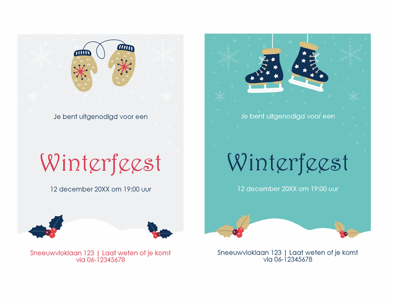 Uitnodigingen winterfeest