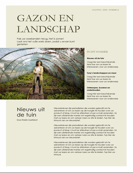 Nieuwsbrief landschapsarchitectuur