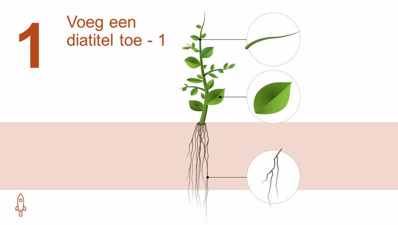 Geanimeerde graphic van een groeiende boom