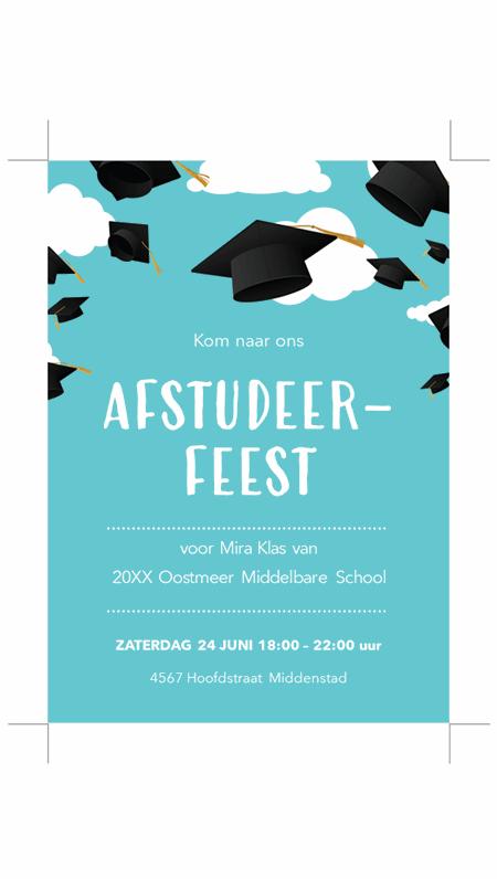 Uitnodigingen voor afstuderen