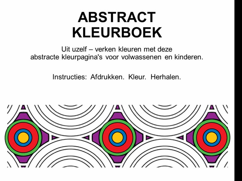 Abstract kleurboek