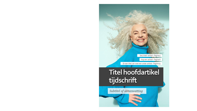 Lay-out voor lifestyle-tijdschrift