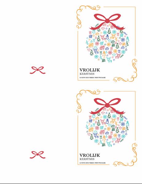 Feestelijke kaart voor de feestdagen