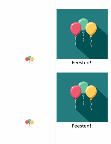 Wenskaart met ballon