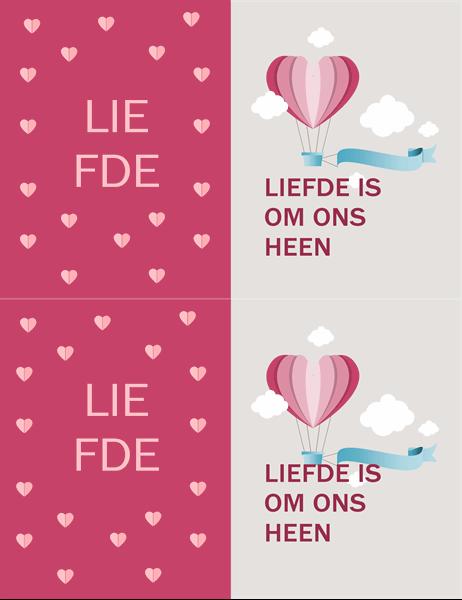 Liefde is overal Valentijnskaart