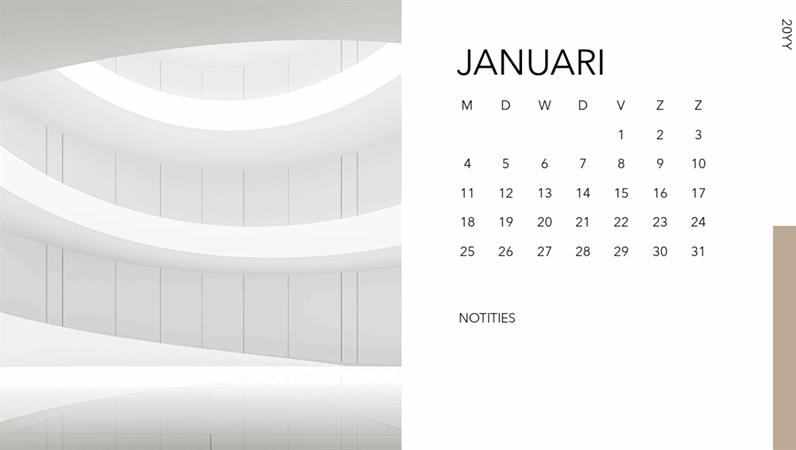 Fotokalender met architectuur