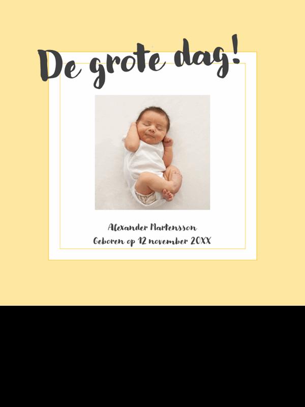 Fotoalbum met geboortemijlpalen