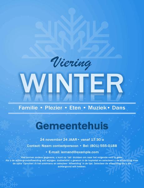 Folder voor evenementen met sneeuwvlok