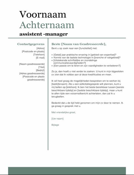 Begeleidende brief met modern ontwerp