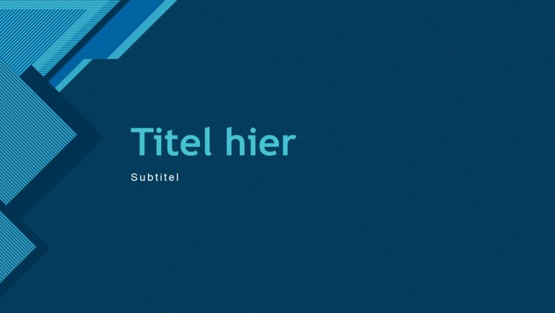 Moderne blauwe presentatie