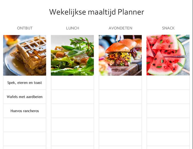 Eenvoudige maaltijdplanner