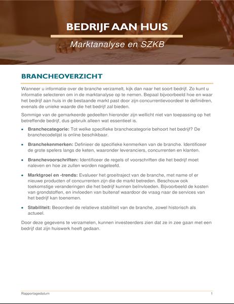 Bedrijf aan huis marktanalyse en SWOT