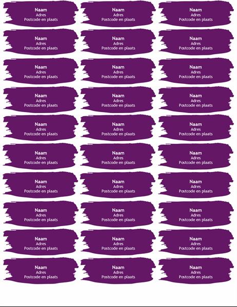 Etiketten met kwaststreken (30 per pagina)