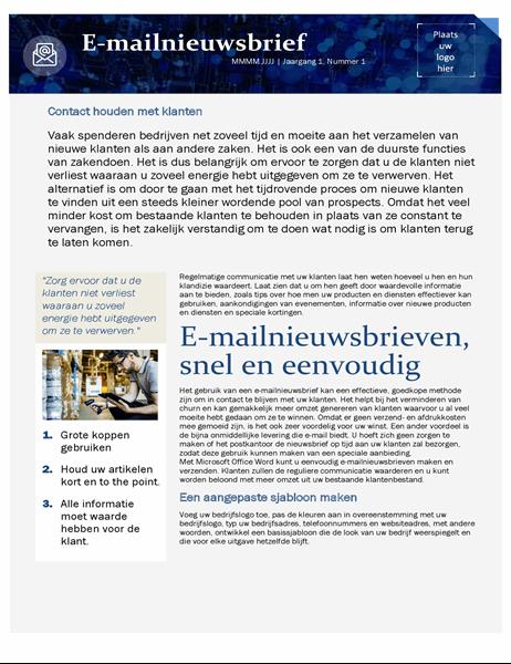 Sjabloon voor e-mailmarketing voor kleine bedrijven