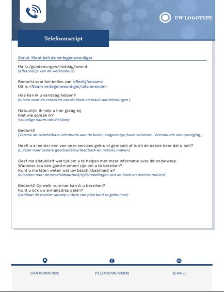 Telefoonscript voor kleine bedrijven