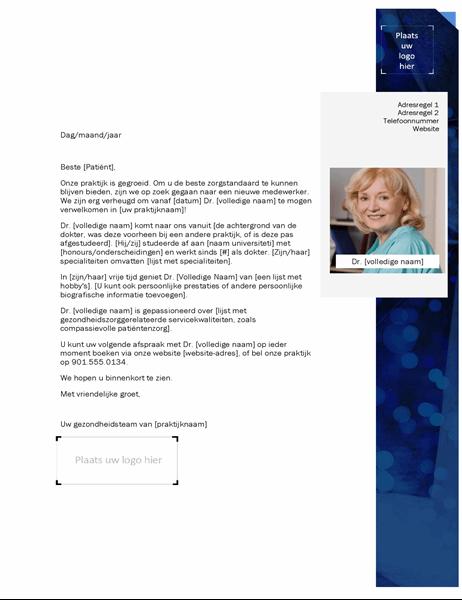 Introductiebrief gezondheidszorgprovider